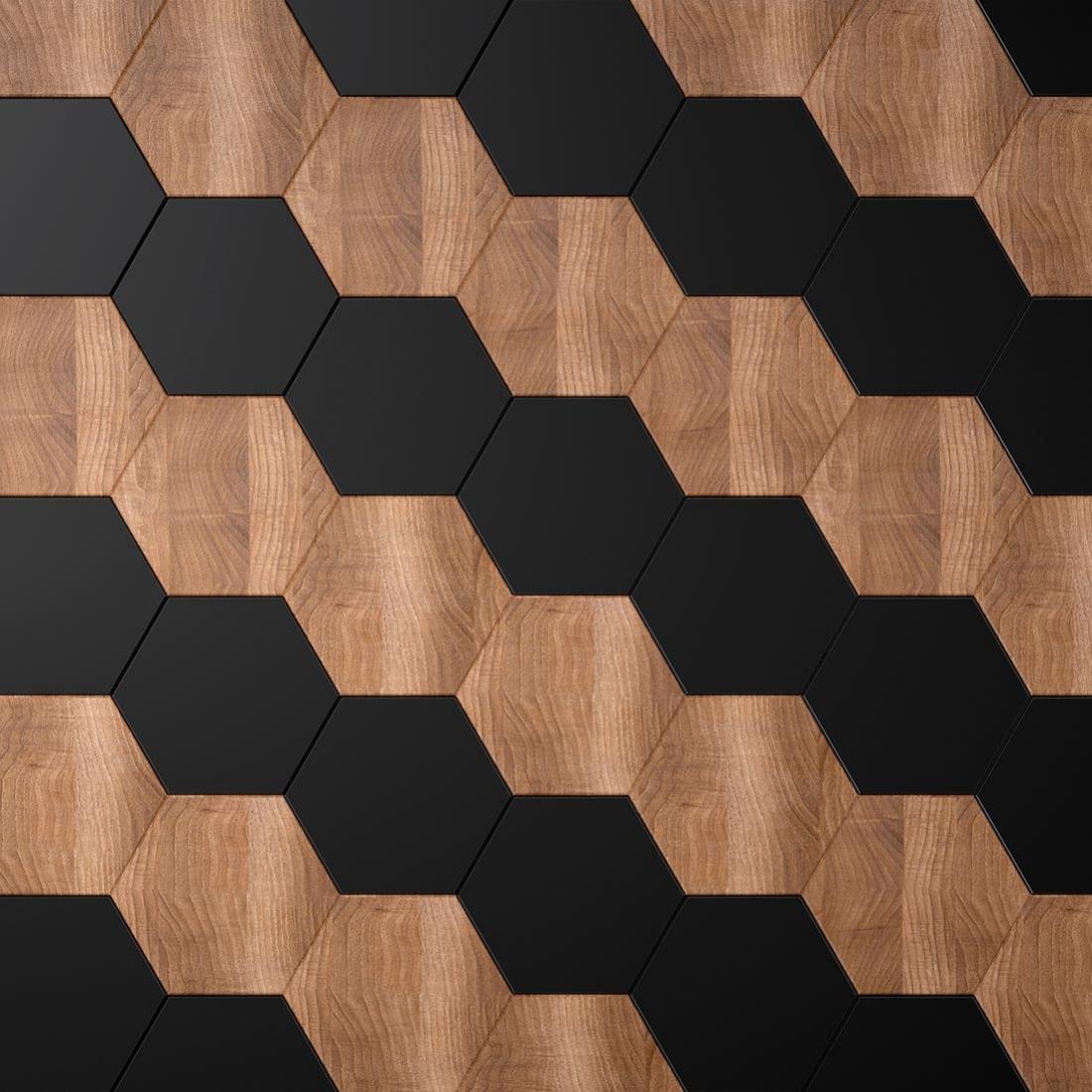 texture bois et noir mat