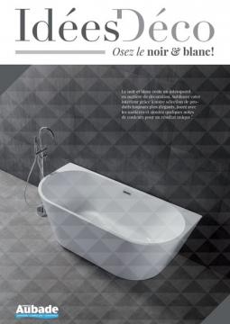 salle de bain noir et blanc ide dco