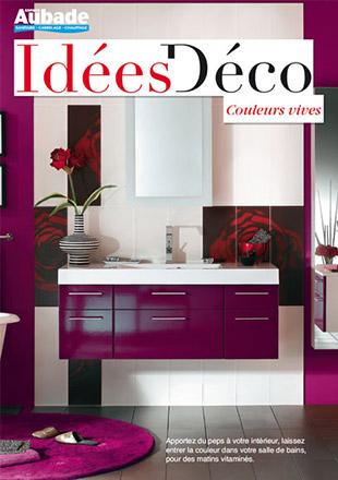 Id e d co salle de bain couleur vive espace aubade - Idee de couleur salle de bain ...