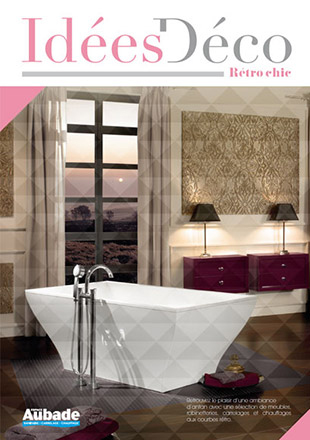 Beautiful deco salle de bain retro contemporary matkin for Salle de bain retro chic