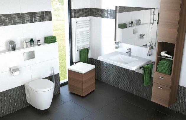 Les zones de transfert dans une salle de bains pour handicapés - La hauteur du lavabo