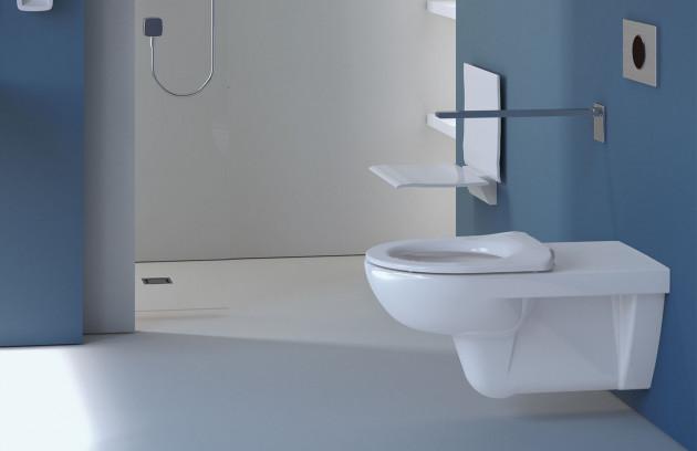 Un espace d'accès libre - WC suspendu long PMR
