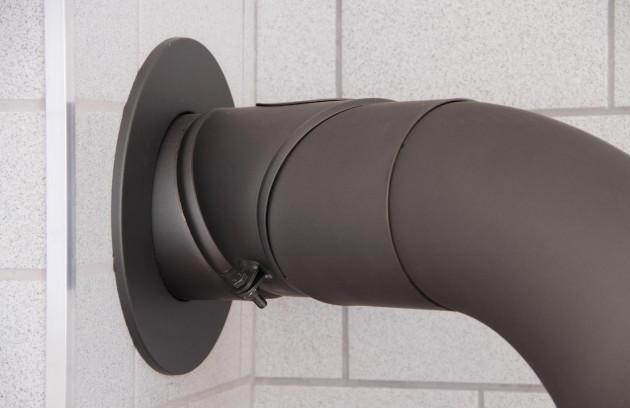Comment installer un poêle à granulés? - La sortie des fumées