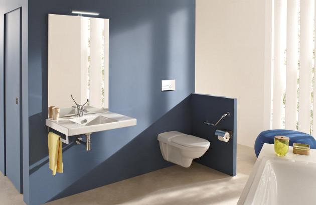 Les zones de transfert dans une salle de bains pour handicapés - Transfert commun