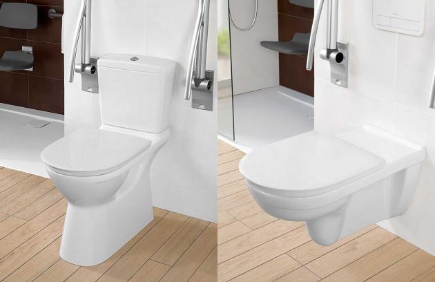 La hauteur de la cuvette - WC suspendu long PMR