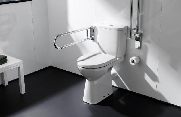 Les zones de transfert dans une salle de bains pour handicapés - La hauteur de la cuvette de toilettes PMR