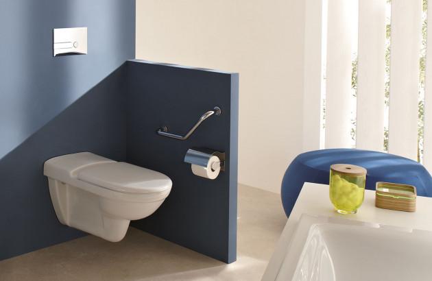 Installation d'un WC suspendu long PMR: agencement technique