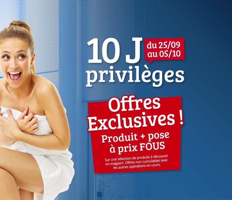 visuel commercial mettant en avant l'opération 10 J Privilèges