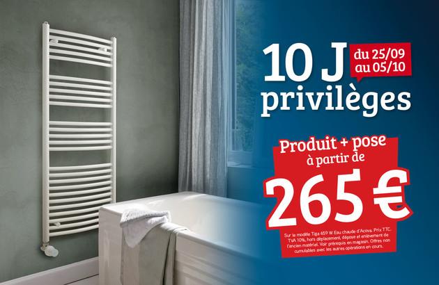 visuel commercial mettant en avant un sèche-serviettes
