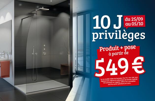 visuel commercial mettant en avant une paroi de douche
