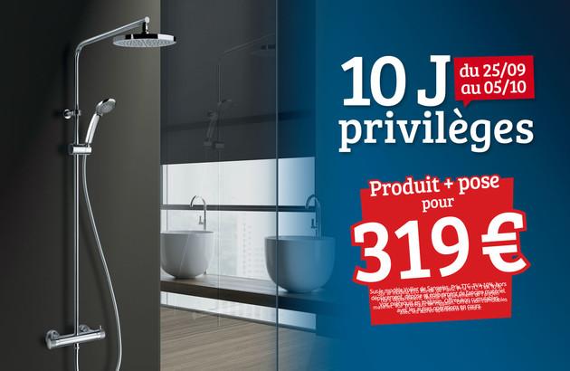 visuel commercial mettant en avant une colonne de douche