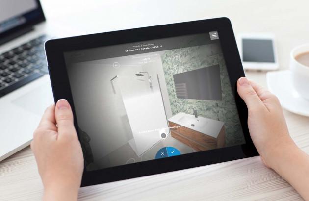 utilisation du simulateur de salle de bains sur ipad