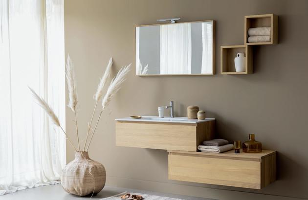 meuble salle de bains en bois massif