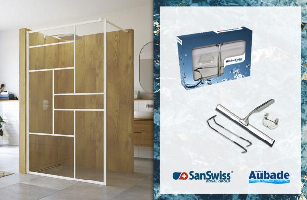 Raclette de douche SanSwiss pour entretien des parois