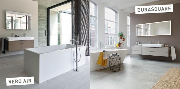 Collections de salles de bains DuraSquare et Vero Air