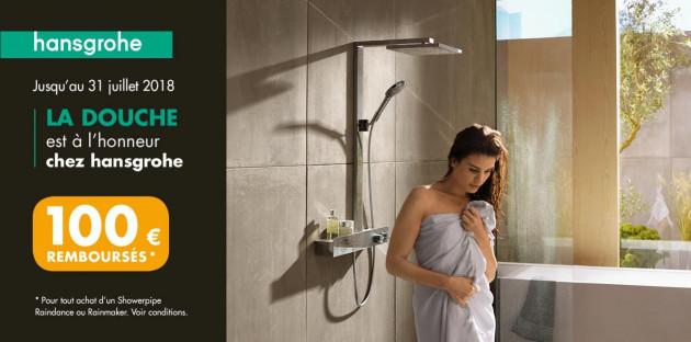 Opération Printemps de la douche avec Espace Aubade & hansgrohe