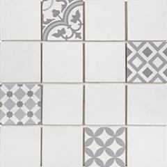 Mosaïque Patchwork par Bati-Orient en coloris Blanc/Gris