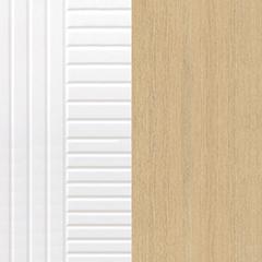 ligne blanches verticales, horizontales et couleur chêne