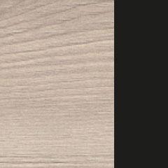 Coloris chêne flanelle avec chant et poignée noir