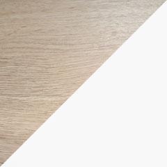 Coloris chêne brut et porte blanc arctique extra-mat