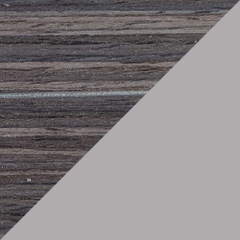 Coloris Zébrano gris / Gris perle mat