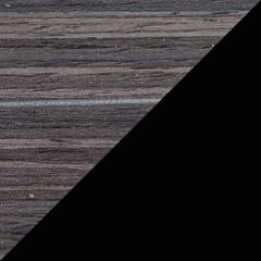 Coloris Zébrano gris / Noir mat