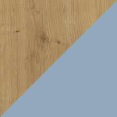 Coloris chêne arlington et laque aigue-marine