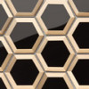 Carrelage Bel Air par Barwolf en coloris Black Gold Hexagon