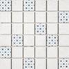 Mosaïque Patchwork par Bati-Orient en coloris Blanc/Bleu