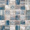 Mosaïque Patchwork par Bati-Orient en coloris Bois Bleu
