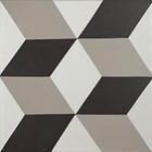 Décor Bati-Orient Inspiration Ciment Anthracite, Blanc Cassé, Gris Clair