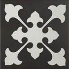 Décor Bati-Orient Inspiration Ciment Blanc Cassé, Anthracite