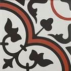 Décor Bati-Orient Inspiration Ciment Blanc Cassé, Gris Foncé, Rouge