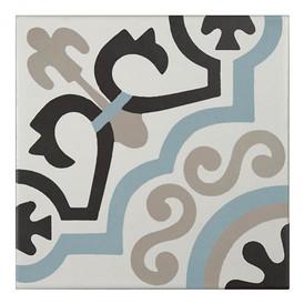 Décor Bati-Orient Inspiration Ciment Gris Clair, Bleu, Blanc Cassé, Anthracite
