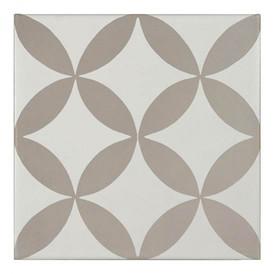 Décor Bati-Orient Inspiration Ciment Blanc Cassé, Gris Clair