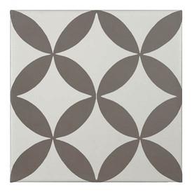 Décor Bati-Orient Inspiration Ciment Blanc Cassé, Taupe