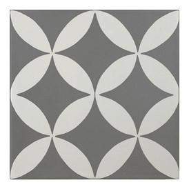Décor Bati-Orient Inspiration Ciment Gris Foncé, Blanc Cassé
