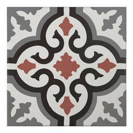 Décor Bati-Orient Inspiration Ciment Blanc, Gris Foncé, Anthracite, Rouge