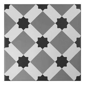 Décor Bati-Orient Inspiration Ciment Blanc, Gris Foncé, Anthracite