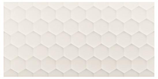 40x80<br>Hexagon White Decor