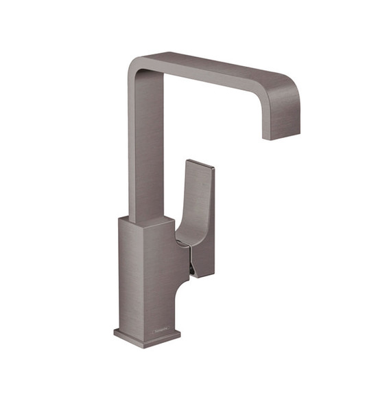 Collection de robinets Metropol FinishPlus Hansgrohe Noir Brossé Chrome