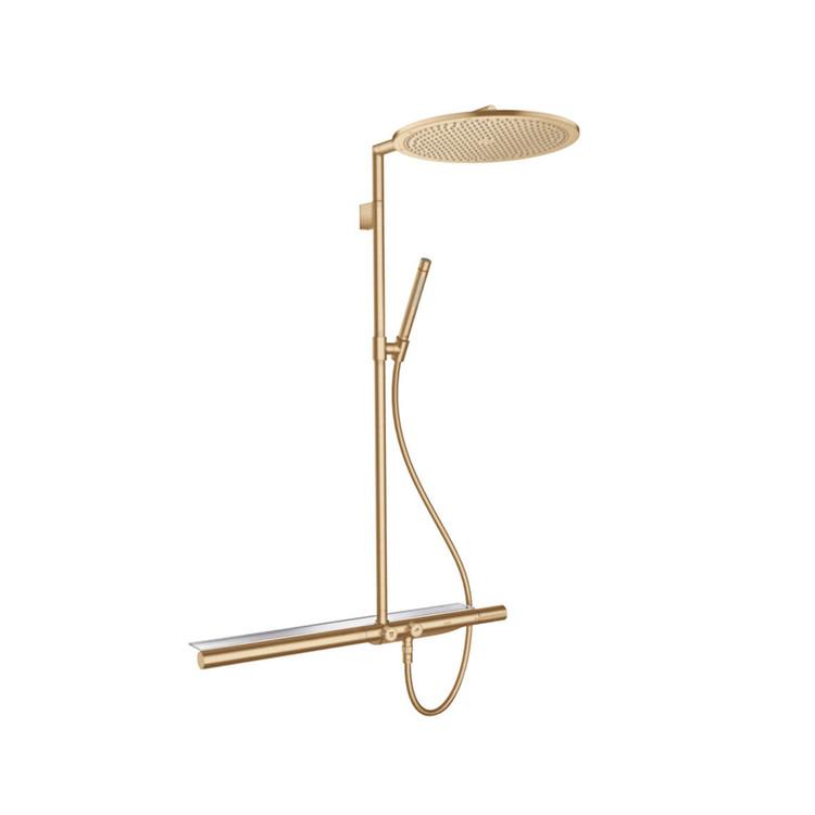 Colonne de douche thermostatique 800 Chrome - Bronze Brossé