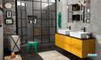 ensemble de mobilier de salle de bains gris Cedam Gloss