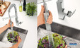 Mitigeur évier avec douchette anticalcaire SpeedClean Eurocube Pro de Grohe