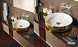 Collection de salle de bains Qamar fabriquée par Inda