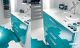 Meuble Unique 90 cm de Delpha avec vasque en verre blanc idéal pour salles de bains