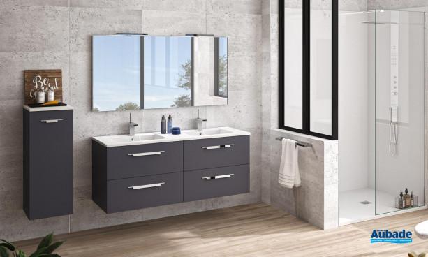 Meuble de salle de bains Vita coloris Graphit L 140 cm par Ambiance Bain