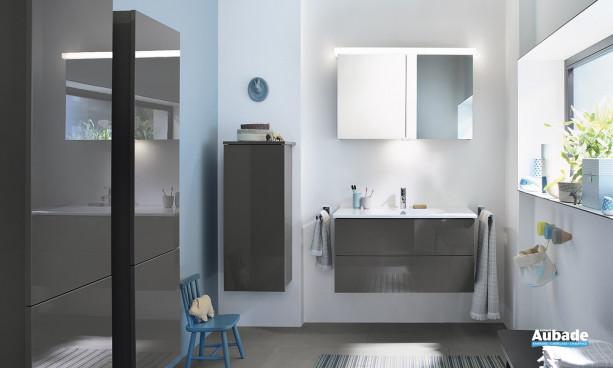 Meuble de salle de bains gris Essento Burgbad