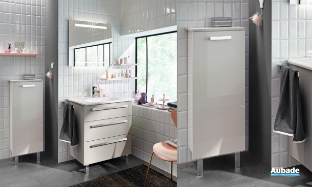 Meuble de salle de bains beige Essento Burgbad