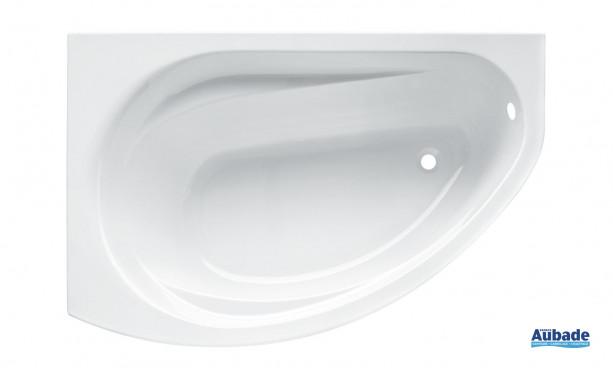 Baignoires d'angle asymétrique, version droite 145 x 85 cm avec ou sans tablier Prima Style Allia